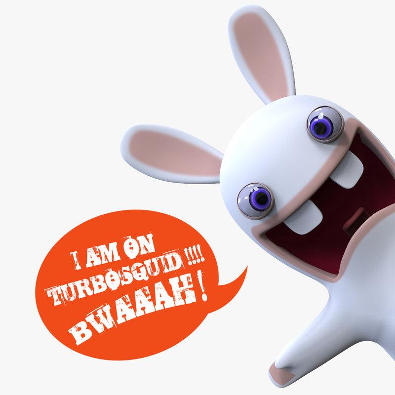 lapin cretin character 3D model