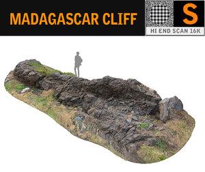 3D madagascar cliff rock model