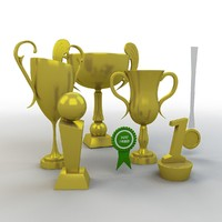 cartoon prize cups set model