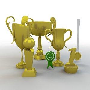 cartoon prize cups set model