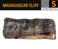 3D model madagascar cliff rock