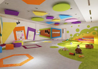 school s nursery 3D