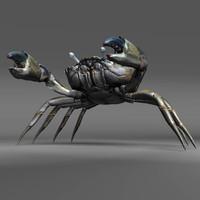 3D green crab model