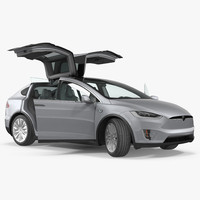 3D tesla x p90d 2017 model