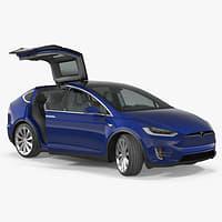 3D model tesla x p100d 2017