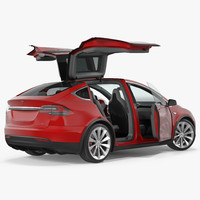 Tesla Model X 90D 2017 Rigged