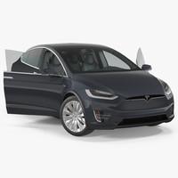 3D model tesla x 60d 2017