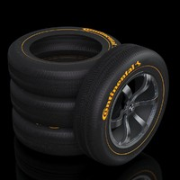 3D car wheel tire rim