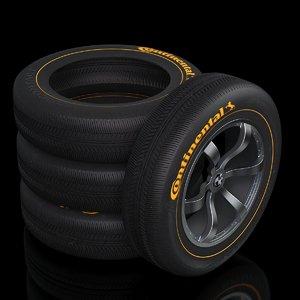 3D car wheel tire rim