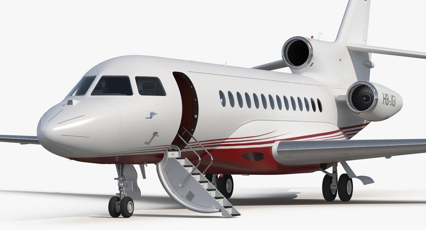 business jet dassault falcon 3D