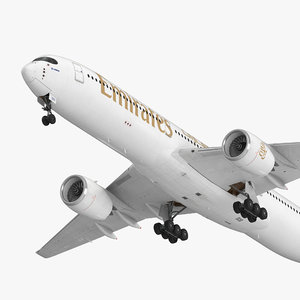 airbus a350-1000 emirates air 3D