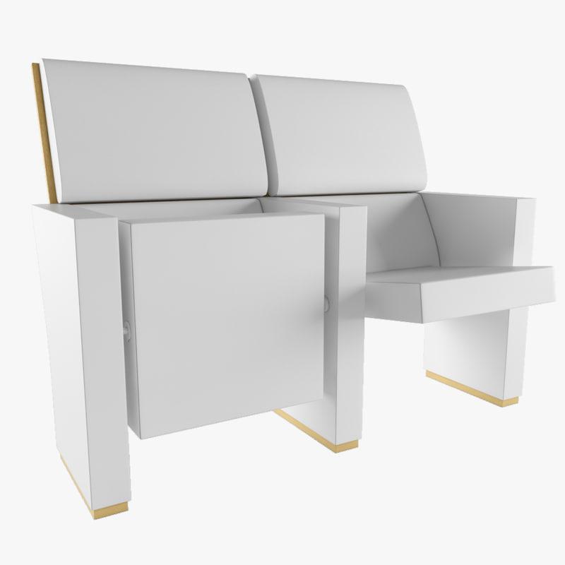 3D armchair figueras virtus model