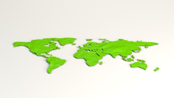 cartoon world 3D model