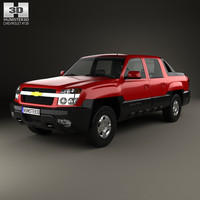 3D model chevrolet avalanche 2002