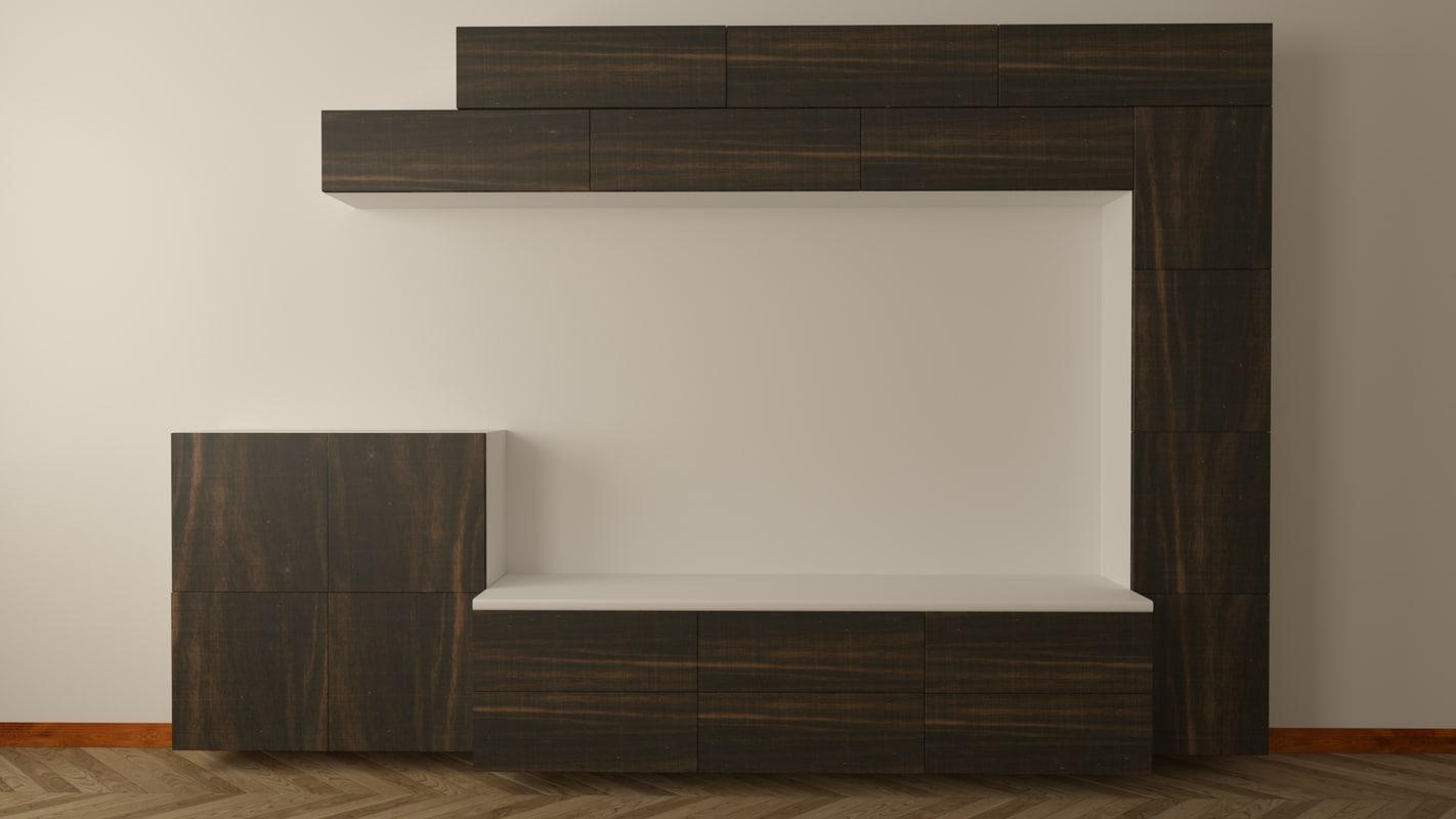 unit design interior 3D