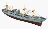 bulker ship crane 3D model