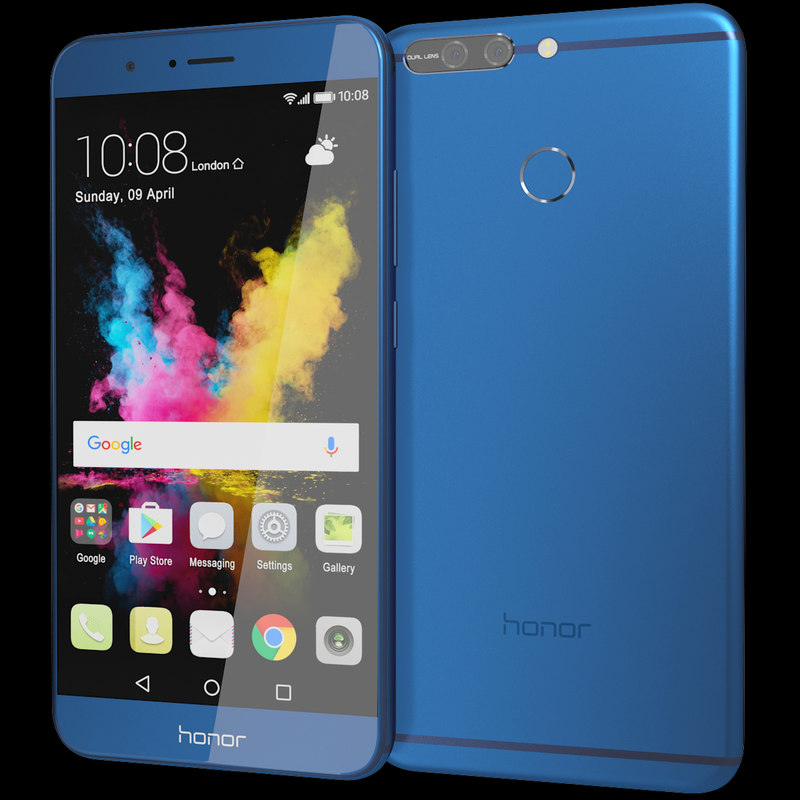 3D realistic huawei honor 8 model