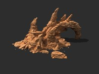 3D people landscape terrain desert