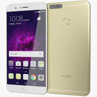 realistic huawei honor 8 3D model