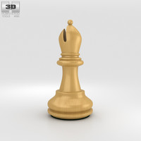 3D chess bishop classic model