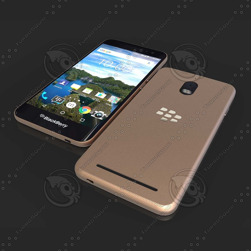black phone blackberry 3D model