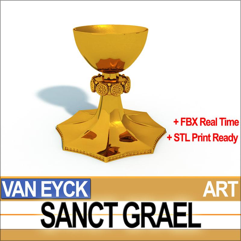 3D sanct grael van eyck model