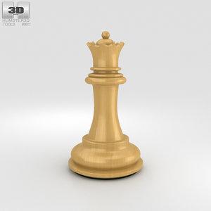3D chess queen classic