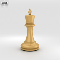3D model chess king classic