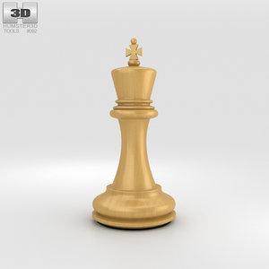 3D model chess king classic