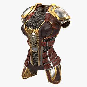 3D female armour v2