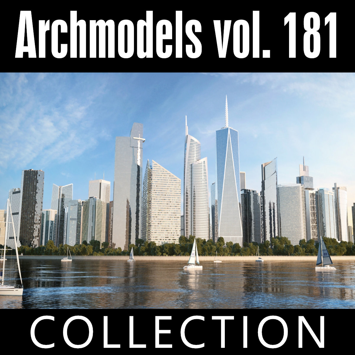 archmodels vol 181 skyscrapers 3D model