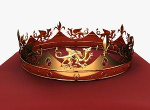 fantasy crown 3D model