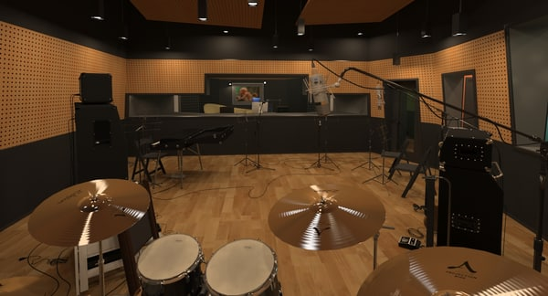 equipped recording studio 3D model
