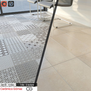 tile ceramica gomez set 3D model