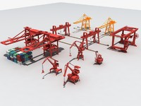 container crane port gantry model