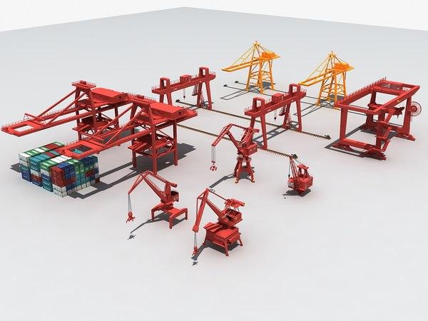 container crane port gantry model