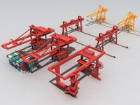 3D container crane gantry