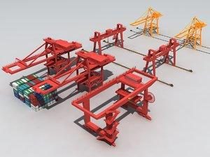 3D container crane gantry