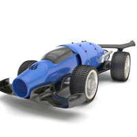 futuristic race car model