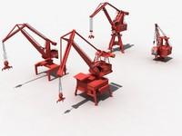 3D container crane port