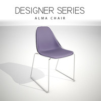 designer alma chair 3D