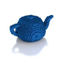 3D lego teapot model