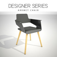 designer arrmet chair 3D