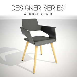 designer arrmet chair 3D