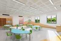 3D school classroom