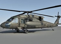 3D model uh-60 helicopter