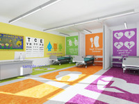 school clinic interior 3D model