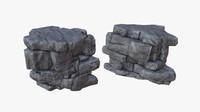 cliff ready pbr 3D model