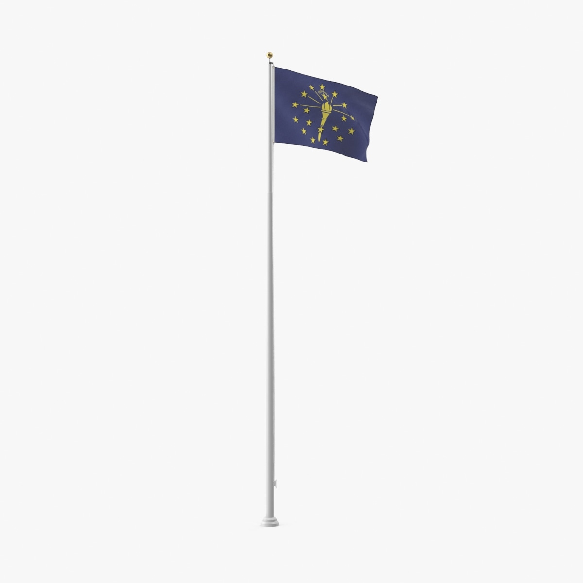 state-flags---indiana 3D