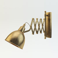 sconce industrial scissor 3D model